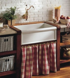 Herbeay Luberon Fireclay Farmhouse Kitchen Sink