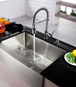 kraus farmhouse single bowl kitchen sink - Kitchen Single Sink